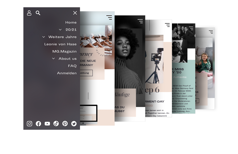 Mobiles Webdesign für Miss Germany