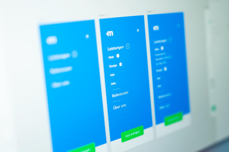 Webdesign in Adobe XD