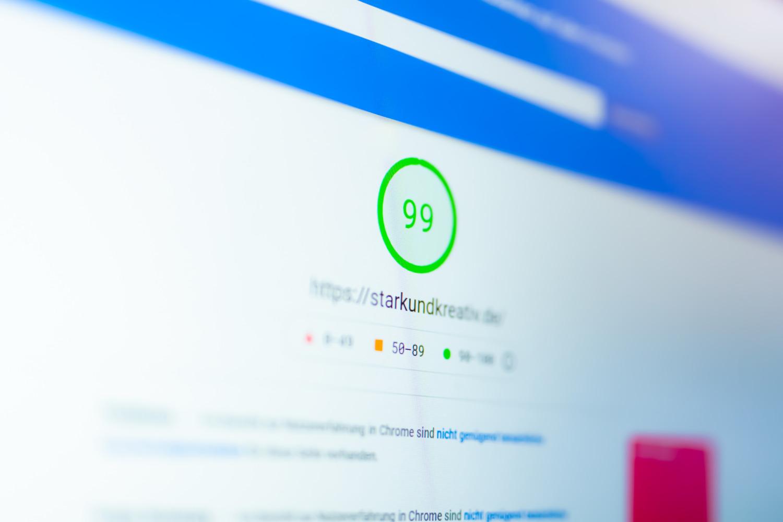 Google Pagespeed Score von 99